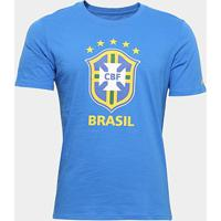 Camiseta Brasil Nike Evergreen Crest Masculina - Masculino