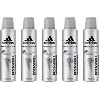 Kit 5 Desodorantes Adidas Invisible Aerossol Feminino 150Ml - Feminino-Incolor