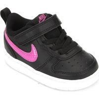 Tênis Infantil Nike Court Borough Low 2 Tdv - Masculino-Preto+Rosa