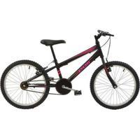 Bicicleta Mtb Aro 20 Feminina Monomarcha V-Brake Aço Carbono Polimet - Feminino