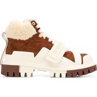 Dolce & Gabbana Bota Com Pelos - Marrom