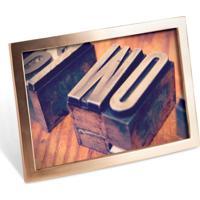 Porta-Retrato Senza 10X15 Cm Dourado