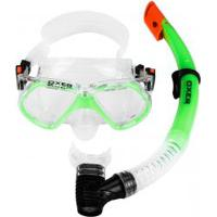 Kit De Mergulho: Snorkel E Máscara De Mergulho Oxer Pro - Adulto - Verde Claro