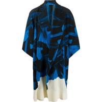 Homme Plissé Issey Miyake Cardigan Com Pregas E Estampa Abstrata - Azul