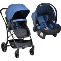 Carrinho Bebe Travel System Convert Touring Evolution X Blue