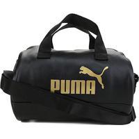 Bolsa Puma Core Up - Unissex-Preto+Dourado