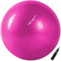 Bola De Pilates Suiça Gym Ball Com Bomba De Ar 75Cm 09094-Ro, Cor: Rosa, Tamanho: Único
