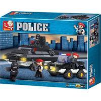 Blocos De Montar Policia Tanque De Guerra 311 Peças Indicado Para +6 Anos Material Plástico Colorido Multikids - Br836 Br836