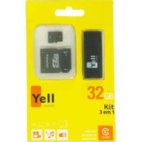 Pen Drive Yellmobile 32Gb Mc218 + Leitor De Cartão + Adaptador Sd Preto