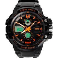 Relógio Skmei Anadigi 0990L Laranja