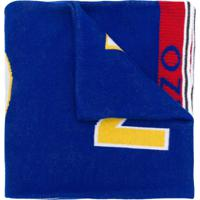 Kenzo Cachecol Com Logo - Azul