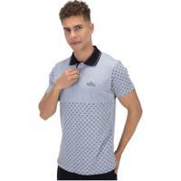 Camisa Polo Fatal Estampada 22270 - Masculina - Cinza