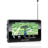 Gps Lcd 4,3 Pol. Touch Tv Digital Rádio Fm Tts E-Book Multilaser - Gp034 - Padrão
