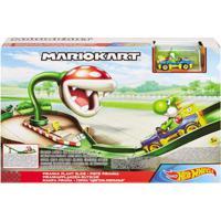 Pista De Percurso E Veículo - Hot Wheels - Mario Kart - Nemesis Track - Mattel