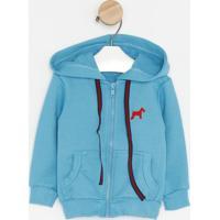 Jaqueta Em Moletinho Com ZãPer - Azul & Vermelha- Ololiver