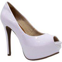 Sapato Bebecê Peep Toe Meia Pata Branco 33 Incolor
