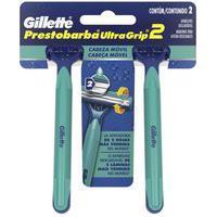 Gillette Prestobarba Ultragrip Barbeador Descartável Com 2 Unidades 2 Unidades