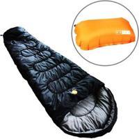 Saco De Dormir Térmico Até 5°C Guepardo Ultralight Com Travesseiro Inflável Looper - Unissex