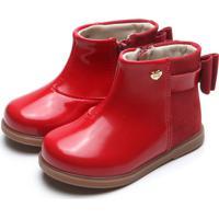 Bota Klin Infantil Miss Fashion Vermelha