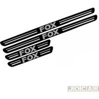 Aplique Da Soleira - Fox 2003 Até 2014 - Resinado - Auto Colante - Preto - Jogo
