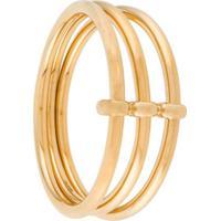 Jw Anderson Three-Hoop Bangle Bracelet - Dourado