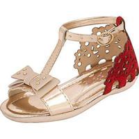 Sandália Infantil Plis Calçados Florzinha Feminina - Feminino-Vermelho
