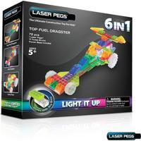 Blocos De Montar Laser Pegs Dragster 6 Em1 Zippydo Branco