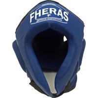Protetor De Cabeça Fheras Capacete Sem Grade Azul