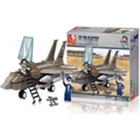 Blocos De Montar Air Force Modelo Jato De Combate 142 Pecas - Multikids