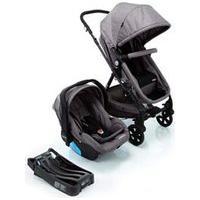 Carrinho Com Bebê Conforto Trio Poppy Travel System Cinza - Cosco - Cax33348