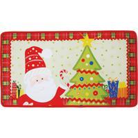 Tapete Papai Noel Com Led- Vermelho & Verde Claro- 4Cromus