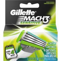 Carga Gillette Mach3 Sensitive Com 4