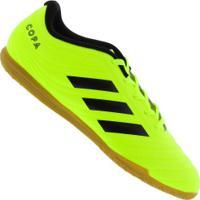 Chuteira Futsal Adidas Copa 19.4 In - Adulto - Amarelo Fluor