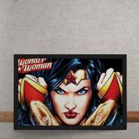 Quadro Decorativo Mulher Maravilha Dc Comics 25X35