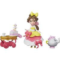 Mini Boneca Com Acessórios - Disney Princesas - Little Kingdom - Bela Com Carrinho De Chá - Hasbro - Feminino