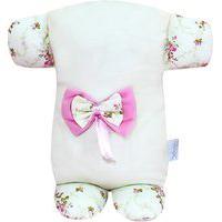 Travesseiro Soninho Padroeira Baby Alicia Floral Luxo Bege