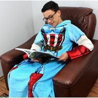 Cobertor Com Mangas Infantil Capitão America
