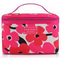 Necessaire Feminina Frasqueira Viagem Jacki Design Maquiagem Cosméticos Acessórios Pink