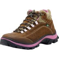 Bota Atron Shoes Adventure Rosa Castor