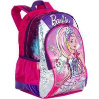 Mochila Média Barbie Aventura Nas Estrelas Infantil Sestini - Feminino-Rosa