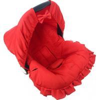 Capa Para Bebê Conforto Alan Pierre Baby 0 A 13 Kg Vermelho Liso