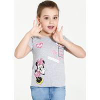 Blusa Infantil Minnie Margarida Manga Curta Disney
