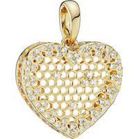 Charm Pendente Coração- Dourado- Pandorapandora