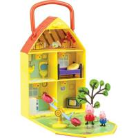 Playset E Mini Figuras - Peppa Pig - Casa Com Jardim Da Peppa - Dtc - Unissex-Incolor