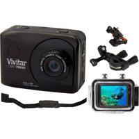 Câmera Vivitar De Ação Full Hd Dvr786 + Suporte P/ Bike