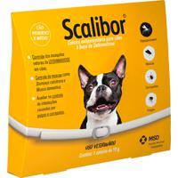 Coleira Scalibor Antiparasitária Para Cães Combate Infestação De Carrapatos, Pulgas E Mosquitos Leishmaniose 48Cm Com 19G