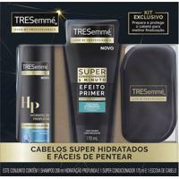 Kit Tresemme Shampoo Hidratação Profunda 200Ml + Super Condicionador Cachos E Crespos 170Ml + Escova De Cabelo