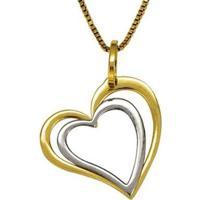 Pingente Em Ouro De Coração Duplo Vazado - Pg18197 Casa Das Alianças Feminino - Feminino