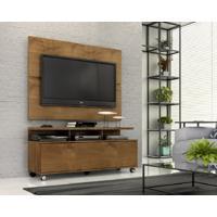 """Rack Com Painel Home Buzios 1,2 M Para Tv 48"""" Castanho - Castanho - Dafiti"""