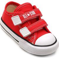 Tênis Infantil Converse All Star Ct Border 2 Velcros Baby - Unissex-Vermelho
